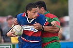 Whaiora Rangiwai looks for support as he is tackled near the tryline. Counties Manukau Premier rugby game between Waiuku & Ardmore Marist played at Waiuku on Saturday May 10th 2008..Ardmore Marist won 27 - 6 after leading 10 - 6 at halftime.