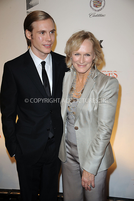 WWW.ACEPIXS.COM . . . . . ....January 19 2010, New York City....Actors Zachary Booth (L) and Glenn Close arriving at the Season 3 premiere of 'Damages' at the AXA Equitable Center on January 19, 2010 in New York City.....Please byline: KRISTIN CALLAHAN - ACEPIXS.COM.. . . . . . ..Ace Pictures, Inc:  ..tel: (212) 243 8787 or (646) 769 0430..e-mail: info@acepixs.com..web: http://www.acepixs.com
