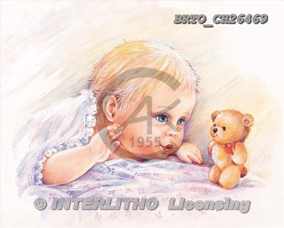 Alfredo, BABIES, paintings, BRTOCH26469,#B# bébé, illustrations, pinturas ,everyday