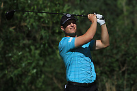Calum Hill (SCO) on the 7th tee during Round 1 of the Challenge Tour Grand Final 2019 at Club de Golf Alcanada, Port d'Alcúdia, Mallorca, Spain on Thursday 7th November 2019.<br /> Picture:  Thos Caffrey / Golffile<br /> <br /> All photo usage must carry mandatory copyright credit (© Golffile | Thos Caffrey)