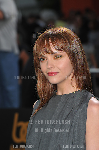 "Christina Ricci at the Los Angeles premiere of  ""Brüno"" at Grauman's Chinese Theatre, Hollywood..June 25, 2009  Los Angeles, CA.Picture: Paul Smith / Featureflash"