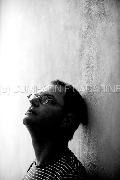 Flemish writer and columnist Tom Naegels in Antwerp (Belgium, 17/09/2009)