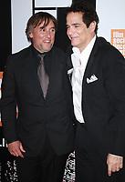 NEW YORK, NY September 28, 2017 Richard Linklater, Yul Vazquez attend 55th New York Film Festival opening night premiere of Last Flag Flying at Alice Tully Hall Lincoln Center in New York September 28,  2017.Credit:RW/MediaPunch