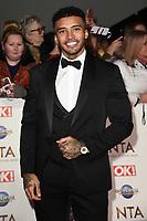 Imran Adams<br /> arriving for the National TV Awards 2020 at the O2 Arena, London.<br /> <br /> ©Ash Knotek  D3550 28/01/2020