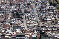 TUNJA-COLOMBIA, 16-04-2020: Panoramica de la ciudad de Tunja, durante la cuarentena total en el territorio colombiano causada por la pandemia  del Coronavirus, COVID-19. / Panoramic of the city of Tunja, during the total quarantine in the Colombian territory caused by the Coronavirus pandemic, COVID-19. / Photo: VizzorImage /Darlin Bejarano / Cont.