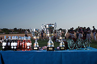 24 May 2009: Trophies are seen on a table during the 2009 challenge de France, a tournament with the best French baseball teams - all eight elite league clubs - to determine a spot in the European Cup next year, at Montpellier, France. Rouen wins 7-5 over Savigny.