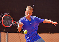 Netherlands, Rotterdam August 07, 2015, Tennis,  National Junior Championships, NJK, TV Victoria,  Quinten Kieboer<br /> Photo: Tennisimages/Henk Koster