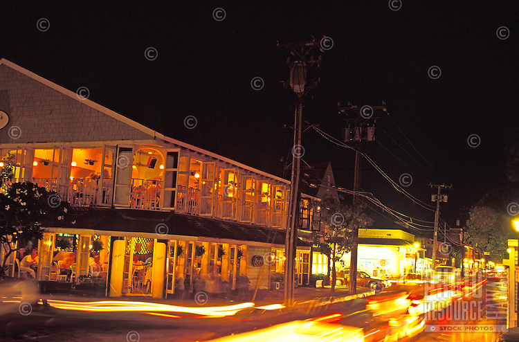 Longhi's restaurant at night, Lahaina, Maui
