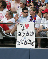 USA and Sounders fan of Brad Evans. USA defeated Grenada 4-0 during the First Round of the 2009 CONCACAF Gold Cup at Qwest Field in Seattle, Washington on July 4, 2009.