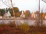 The Village of Marlow, New Hampshire, on  a Misty Morning