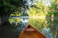Canoeing on the Lower Poultney River in West Haven, Vermont.