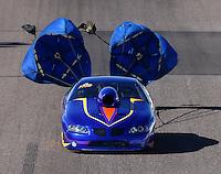 Feb 26, 2016; Chandler, AZ, USA; NHRA top sportsman driver Kelly Harper during qualifying for the Carquest Nationals at Wild Horse Pass Motorsports Park. Mandatory Credit: Mark J. Rebilas-