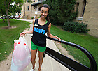 Aug. 19, 2011; A member of the Lyons Hall orientation staff helps with move-in 2011...Photo by Matt Cashore/University of Notre Dame