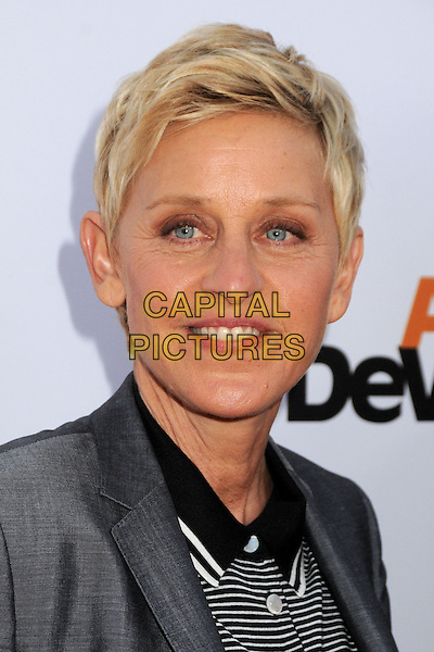 "Ellen Degeneres.""Arrested Development"" Season 4 Los Angeles Premiere held at the TCL Chinese Theatre, Hollywood, California, USA..April 29th, 2013.headshot portrait white stripe grey gray black.CAP/ADM/BP.©Byron Purvis/AdMedia/Capital Pictures"