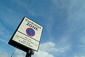 Controlled Parking Zone sign in Camden Town, London.