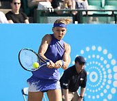 June 17th 2017, Nottingham, England;WTA Aegon Nottingham Open Tennis Tournament day 6;  Backhand from Lucie Safarova of Czech Republic in her semi final match against Donna Vekic of Croatia