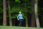 AUGUSTA, GA- APRIL 12:  Brandt Snedeker runs after his shot out of the rough on the 11th fairway during a the 3rd round of the 2008 Masters on April 12, 2008 at Augusta National Golf Club in Augusta, Georgia. (Photo by Donald Miralle)