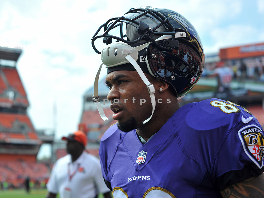 CLEVELAND, OH - JULY 18, 2016: Wide receiver Steve Smith #89 of the Baltimore Ravens walks onto the field prior to a game against the Cleveland Browns on July 18, 2016 at FirstEnergy Stadium in Cleveland, Ohio. Baltimore won 25-20. (Photo by: 2017 Nick Cammett/Diamond Images)  *** Local Caption *** Steve Smith(SPORTPICS)