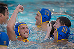 LOS ANGELES, CA - DECEMBER 03:  Jack Grover (4) of UCLA celebrates during the Division I Men's Water Polo Championship held at the Uytengsu Aquatics Center on the University of Southern California campus on December 3, 2017 in Los Angeles, California. (Photo by Justin Tafoya/NCAA Photos via Getty Images)