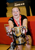 11 MAR 2009 - SHEFFIELD,GBR - Kaylea McQuade celebrates the Loughborough University victory over the  University of Bath in the Championship Final at the 2009 BUCS Championships '09. (PHOTO (C) NIGEL FARROW)