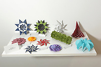 New York, NY, USA - June 24-25, 2017: OrigamiUSA 2017 Convention at St. John's University, Queens, New York, USA. Exhibition of origami designed and folded by Evan Zodl.