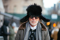 Nick Wooster attends Day 4 of New York Fashion Week on Feb 16, 2015 (Photo by Hunter Abrams/Guest of a Guest)