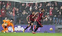Jordon Ibe of AFC Bournemouth celebrates scoring his goal during the Premier League match between Bournemouth and Arsenal at the Goldsands Stadium, Bournemouth, England on 14 January 2018. Photo by Andy Rowland.