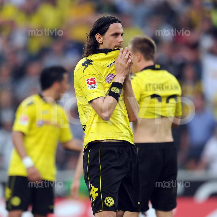 Fussball 1. Bundesliga :  31. Spieltag, Saison   2010/2011      Borussia Moenchengladbach - Borussia Dortmund     23.04.2011 Neven Subotic (Borussia Dortmund)