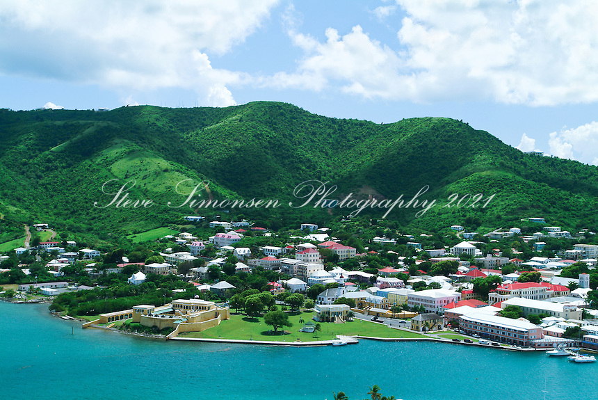 Aerial view of Christiansted.St. Croix.U.S. Virgin Islands