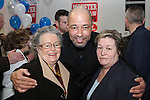 Paul McGrath with Claire Kelly and Marie Russell at the Launch of the Monster Car Draw in aid of the Gary Kelly Centre at Smiths Garage....Photo NEWSFILE/Jenny Matthews.