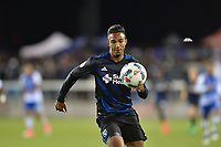 San Jose, CA - Friday April 14, 2017: Danny Hoesen  during a Major League Soccer (MLS) match between the San Jose Earthquakes and FC Dallas at Avaya Stadium.