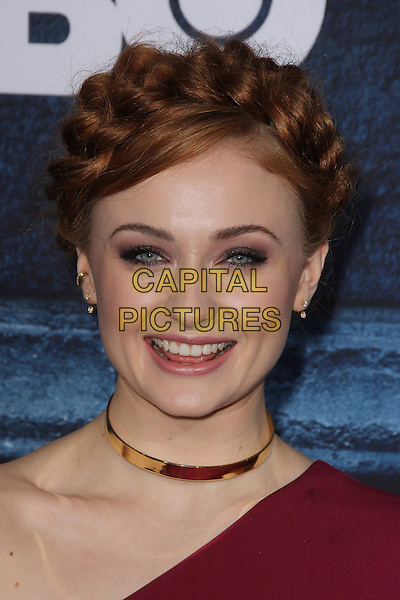 HOLLYWOOD, CA - APRIL 10: Sophie Turner at the premiere of HBO's 'Game of Thrones' Season 6 at the TCL Chinese Theatre on April 10, 2016 in Hollywood, California. <br /> CAP/MPI/DE<br /> &copy;DE/MPI/Capital Pictures