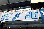 09 June 2011: A banner hangs at the stadium with the Scout logo from the long defunct NHL Kansas City Scouts. Sporting Kansas City played the Chicago Fire to a 0-0 tie in the inaugural game at LIVESTRONG Sporting Park in Kansas City, Kansas in a 2011 regular season Major League Soccer game.