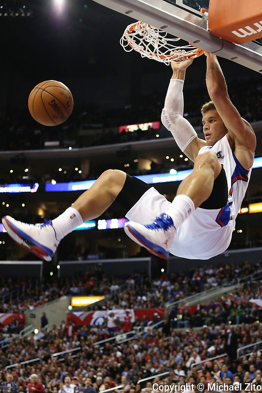 11/28/12 Los Angeles, CA: Blake Griffin #32 during an NBA game between the Los Angeles Clippers and the Minnesota Timberwolves played at Staples Center where the Clippers defeated the Timberwolves 101-95.