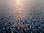 Abstract view of Mediterranean Sea water with sunlight.