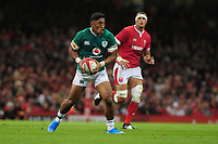Bundee Aki of Ireland in action during the under armour summer series 2019 match between Wales and Ireland at the Principality Stadium, Cardiff, Wales, UK. Saturday 31st August 2019