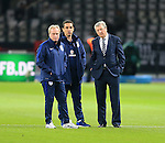 England's Gary Neville, Roy Hodgson and Ray Lewington look on during the International Friendly match at Olympiastadion.  Photo credit should read: David Klein/Sportimage