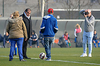 20200126 - OOSTAKKER , BELGIUM : Before the kickoff at the semi final of Belgian cup 2020 , a womensoccer game between KAA Gent Ladies and Standard Femina de Liege  , at the PGB stadion in Oostakker , sunday 26 th January 2020 . PHOTO SPORTPIX.BE | STIJN AUDOOREN