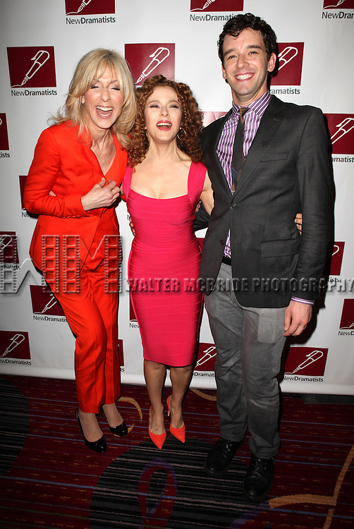 Judith Light, Bernadette Peters & Michael Urie.attending the New Dramatists 63rd Annual Spring Luncheon to Honor Bernadette Peters at the Marriott Marquis Hotel in New York City on 5/24/2012 © Walter McBride/WM Photography .