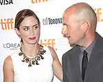 Emily Blunt and director Dante Ariola attending the The 2012 Toronto International Film Festival.Red Carpet Arrivals for 'Arthur Newman' at the Elgin Theatre in Toronto on 9/10/2012