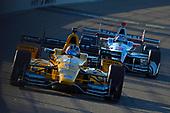 Verizon IndyCar Series<br /> Iowa Corn 300<br /> Iowa Speedway, Newton, IA USA<br /> Saturday 8 July 2017<br /> Graham Rahal, Rahal Letterman Lanigan Racing Honda, Helio Castroneves, Team Penske Chevrolet<br /> World Copyright: F. Peirce Williams<br /> LAT Images