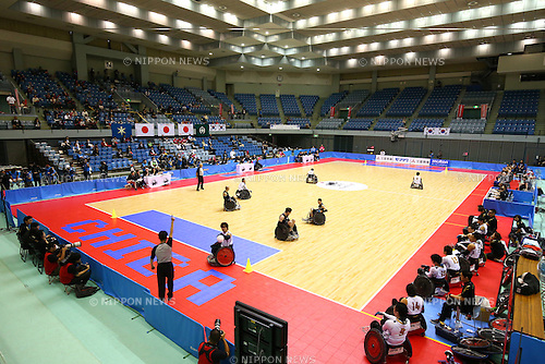 General View, October 29, 2015 - Wheelchair Rugby : IWRF 2015 Asia-Oceania Championship Preliminary League match between Japan - New Zealand at Chiba Port Arena in Chiba, Japan. (Photo by Shingo Ito/AFLO SPORT)