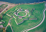 Aerial view of the Fort Ontario State Historic Site, oswego new york