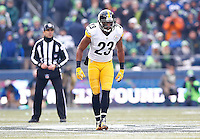 Mike Mitchell #23 of the Pittsburgh Steelers in action against the Seattle Seahawks during the game at CenturyLink Field on November 29, 2015 in Seattle, Washington. (Photo by Jared Wickerham/DKPittsburghSports)