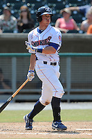 Tennessee Smokies Blake Lalli #32 swings at a pitch during a game against the Tennessee Smokies at Smokies Park in Kodak,  Tennessee;  May 22, 2011.  The Smokies won the game 4-2.  Photo By Tony Farlow/Four Seam Images