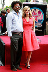 "US actress Kyra Sedgwick is with Producer Lee Daniels as she receives the 2,384th Star on the Hollywood Walk of Fame, Los Angeles, California, USA, on June  8, 2009. Kyra Sedgwick was born in New York in 1965 and grew up in Manhattan.  She made her professional acting debut at the age of 16 on the soap opera ""Another World."" .Photo by Nina Prommer/Milestone Photo"