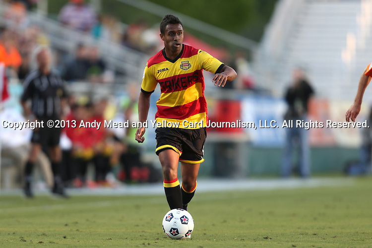 20 April 2013: Fort Lauderdale's Pecka (BRA). The Carolina RailHawks played the Fort Lauderdale Strikers at WakeMed Stadium in Cary, North Carolina in a North American Soccer League Spring 2013 Season regular season game.