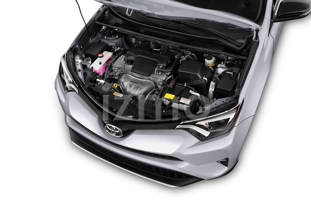 Car Stock 2016 Toyota RAV4 SE 5 Door SUV Engine  high angle detail view