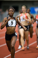 EUGENE, OR--Melanie Hardy races in the women's 800 meters at the Steve Prefontaine Classic, Hayward Field, Eugene, OR. SUNDAY, JUNE 10, 2007. PHOTO © 2007 DON FERIA