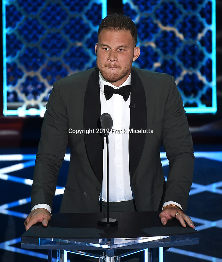 "BEVERLY HILLS - SEPTEMBER 7: Blake Griffin appears onstage at the ""Comedy Central Roast of Alec Baldwin"" at the Saban Theatre on September 7, 2019 in Beverly Hills, California. (Photo by Frank Micelotta/PictureGroup)"